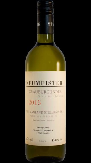 Bottle of Neumeister Grauburgunder Steirische Klassik 2015 wine 750 ml