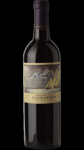 Bottle of Dry Creek Heritage Zinfandel 2017 wine 750 ml