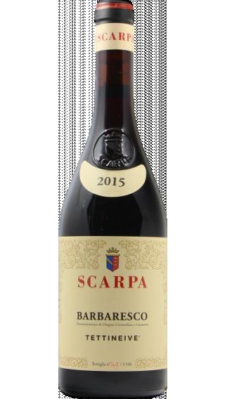 Bottle of Scarpa Tettineive Barbaresco 2015 wine 750 ml