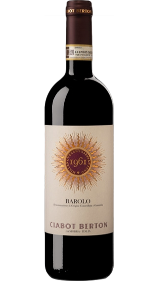 Bottle of Ciabot Berton Barolo 2013 wine 750 ml