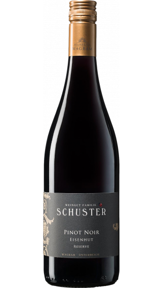 Bottle of Schuster Eisenhut Reserve Pinot Noir 2017 wine 750 ml
