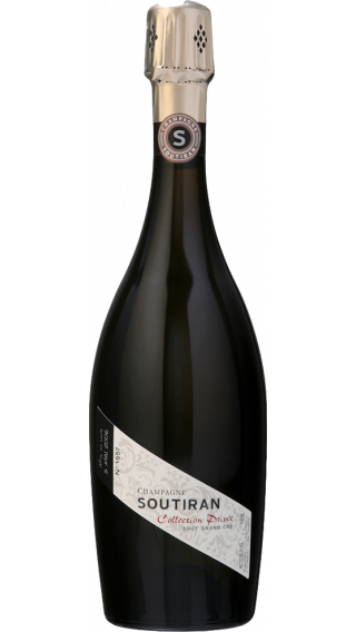 Bottle of Champagne Soutiran Collection Privee Brut Grand Cru wine 750 ml