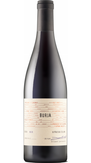 Bottle of Burja Noir 2018 wine 750 ml