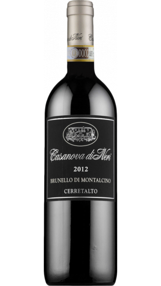 Bottle of Casanova di Neri Cerretalto Brunello di Montalcino 2012 wine 750 ml