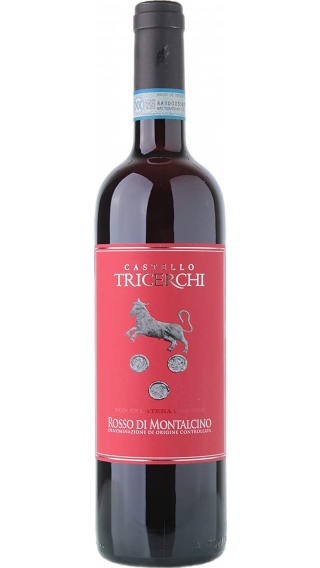 Bottle of Castello Tricerchi Rosso di Montalcino 2018 wine 750 ml