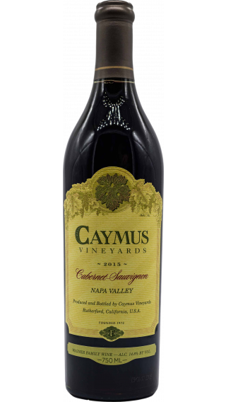 Bottle of Caymus Cabernet Sauvignon 2015 wine 750 ml