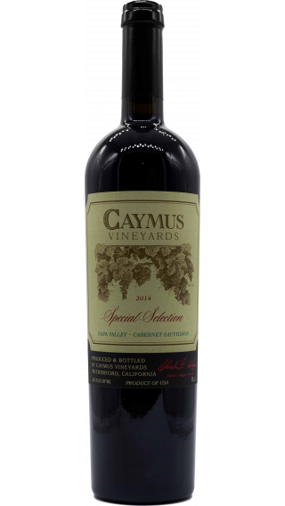 Bottle of Caymus Special Selection Cabernet Sauvignon 2014 wine 750 ml
