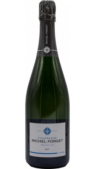 Bottle of Champagne Michel Forget Brut Premier Cru wine 750 ml