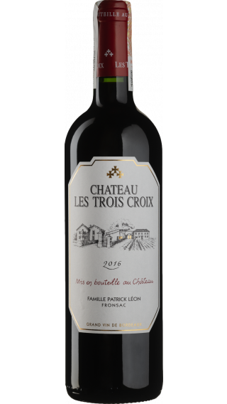 Bottle of Chateau Les Trois Croix Fronsac 2016 wine 750 ml