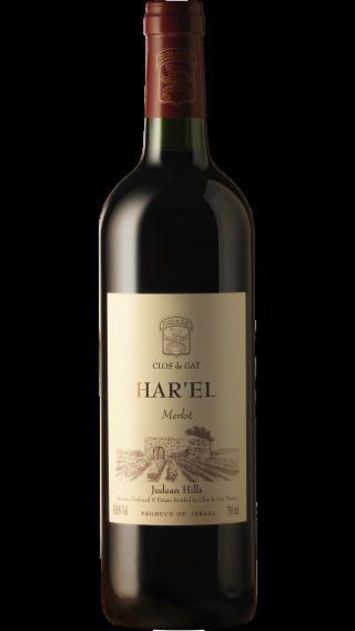 Bottle of Clos de Gat Har'el Merlot 2017 wine 750 ml