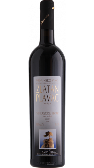 Bottle of Zlatan Otok Plavac Barrique 2012 wine 750 ml