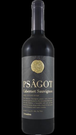 Bottle of Psagot Cabernet Sauvignon 2018 wine 750 ml