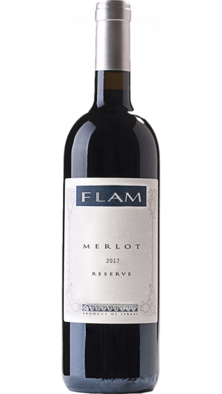 Bottle of Flam Merlot Reserve 2017 wine 750 ml