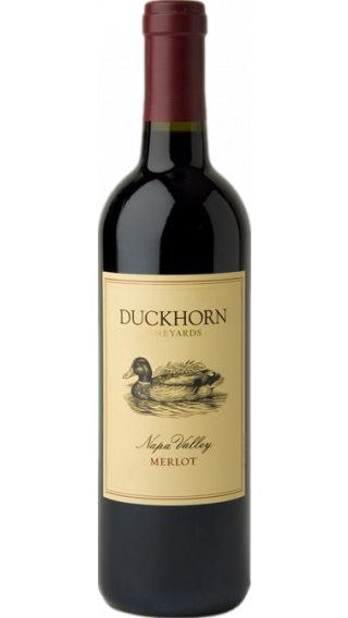 Bottle of Duckhorn Napa Valley Merlot 2015 wine 750 ml