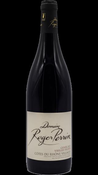 Bottle of Domaine Roger Perrin Cotes du Rhone Villages Cuvee Vieilles Vignes 2015 wine 750 ml