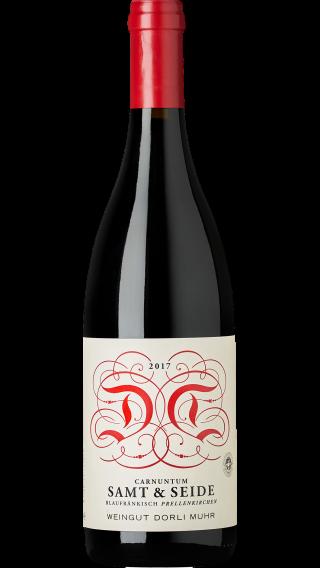 Bottle of Dorli Muhr Samt & Seide Blaufrankisch 2017 wine 750 ml