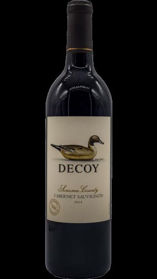 Bottle of Duckhorn Decoy Cabernet Sauvignon 2015 wine 750 ml