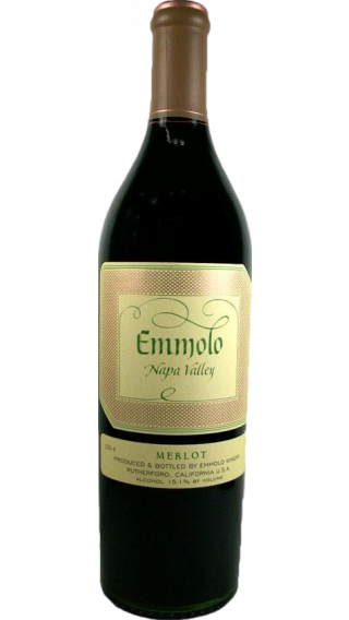 Bottle of Emmolo Merlot 2016 wine 750 ml