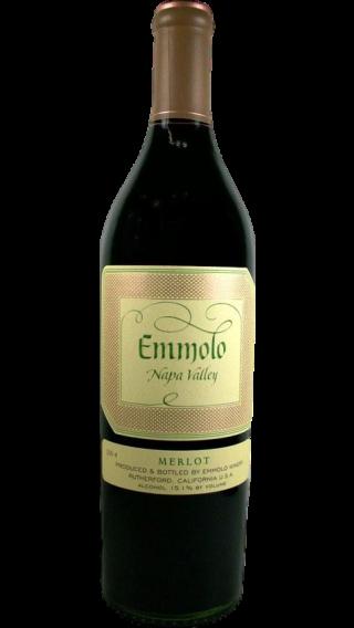 Bottle of Emmolo Merlot 2018 wine 750 ml