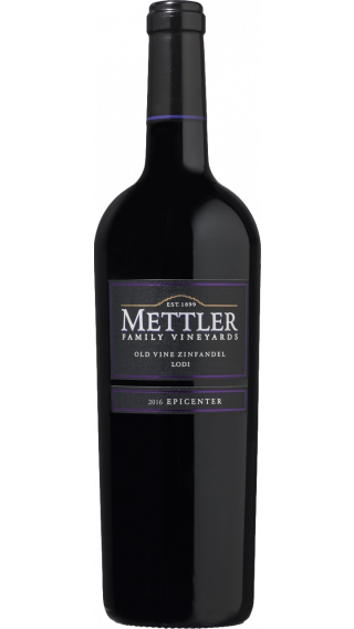 Bottle of Mettler Old Vine Zinfandel 2016 wine 750 ml