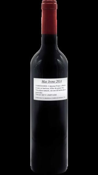 Bottle of Pares Balta Mas Irene 2014 wine 750 ml