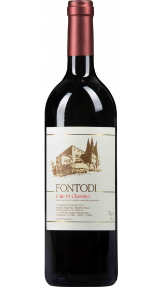 Bottle of Fontodi Chianti Classico 2017 wine 750 ml