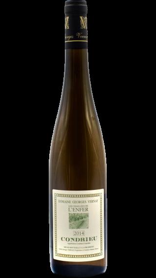 Bottle of Georges Vernay Condrieu Le Chailees de l'Enfer 2014 wine 750 ml