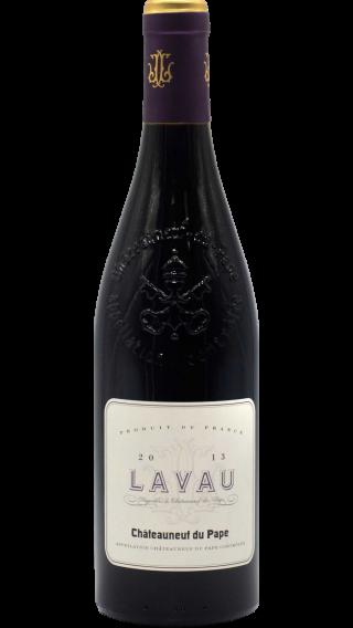 Bottle of Lavau Chateauneuf du Pape 2013 wine 750 ml