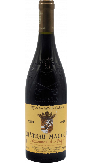 Bottle of Chateau Maucoil Chateauneuf du Pape Tradition 2014 wine 750 ml