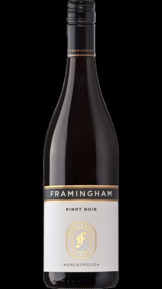 Bottle of Framingham Pinot Noir 2015 wine 750 ml