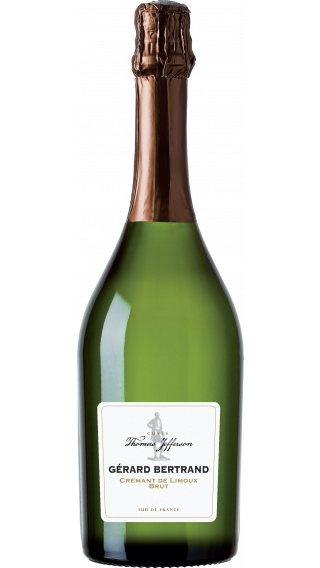 Bottle of Gerard Bertrand Thomas Jefferson Cremant de Limoux Brut 2017 wine 750 ml