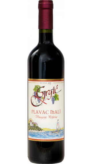 Bottle of Grgic Plavac Mali 2017 wine 750 ml