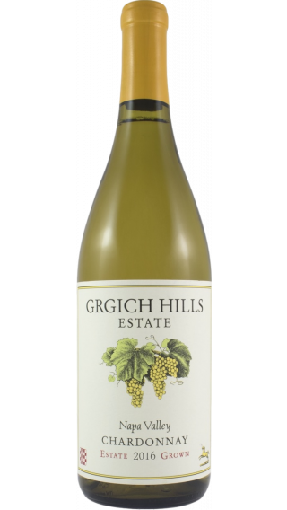 Bottle of Grgich Hills Chardonnay 2016 wine 750 ml