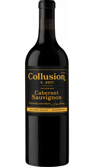 Bottle of Grounded Wine Company Collusion Cabernet Sauvignon 2017 wine 750 ml