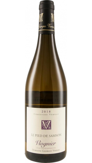 Bottle of Georges Vernay Viognier Le Pied de Samson 2018 wine 750 ml