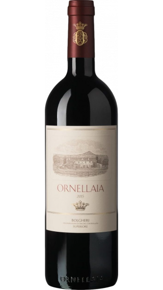 Bottle of Ornellaia Bolgheri Superiore 2015 wine 750 ml
