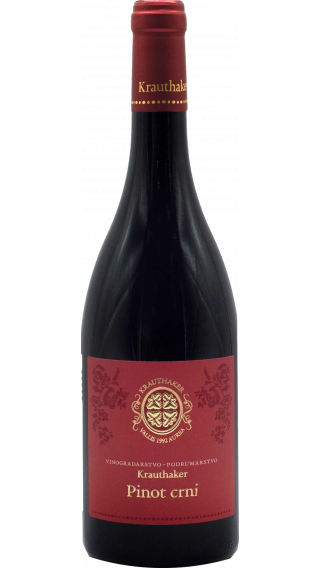 Bottle of Krauthaker Pinot Noir 2015 wine 750 ml