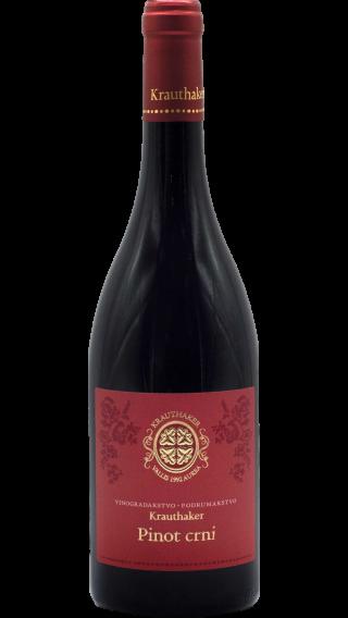 Bottle of Krauthaker Pinot Noir 2017 wine 750 ml
