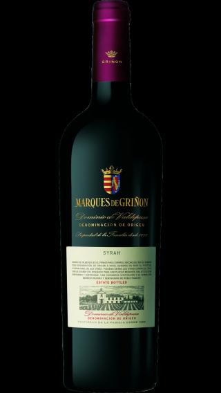 Bottle of Marques de Grinon Syrah 2014 wine 750 ml