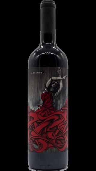 Bottle of Intrinsic Cabernet Sauvignon 2014 wine 750 ml