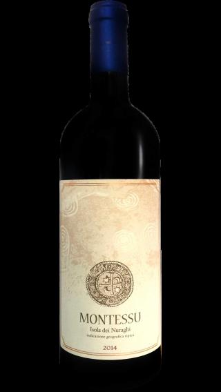 Bottle of Agricola Punica Montessu 2014 wine 750 ml