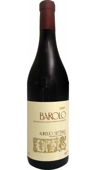 Bottle of Aurelio Settimo Barolo 2010 wine 750 ml