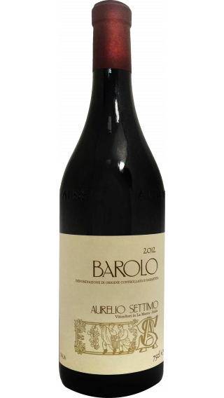 Bottle of Aurelio Settimo Barolo 2012 wine 750 ml