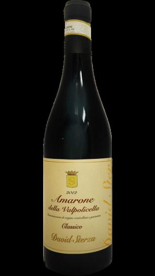 Bottle of David Sterza Amarone della Valpolicella Classico 2012  wine 750 ml