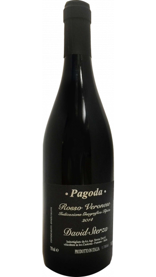 Bottle of David Sterza Pagoda 2015 wine 750 ml