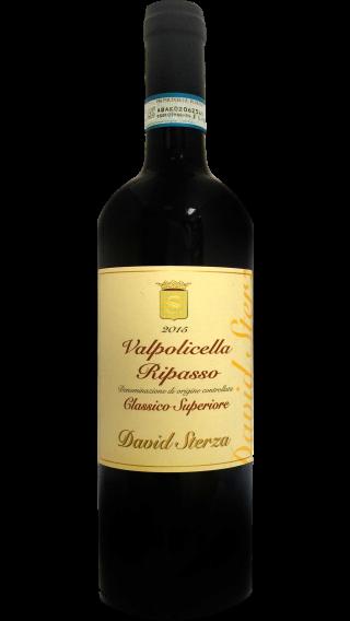 Bottle of David Sterza Valpolicella Classico Superiore Ripasso 2018 wine 750 ml