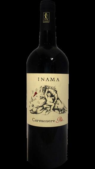 Bottle of Inama Carmenere Piu 2014 wine 750 ml