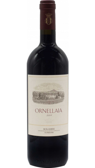 Bottle of Ornellaia Bolgheri Superiore 2014 wine 750 ml