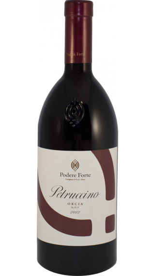Bottle of Podere Forte Petruccino 2015 wine 750 ml