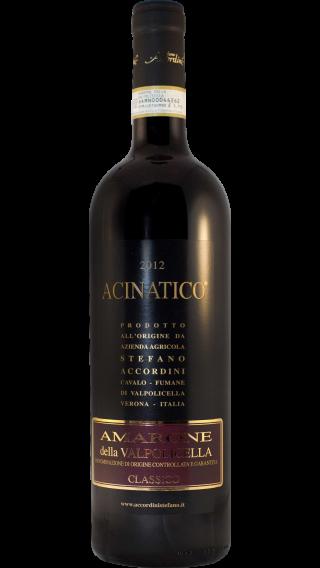 Bottle of Stefano Accordini Acinatico Amarone della Valpolicella Classico 2012 wine 750 ml